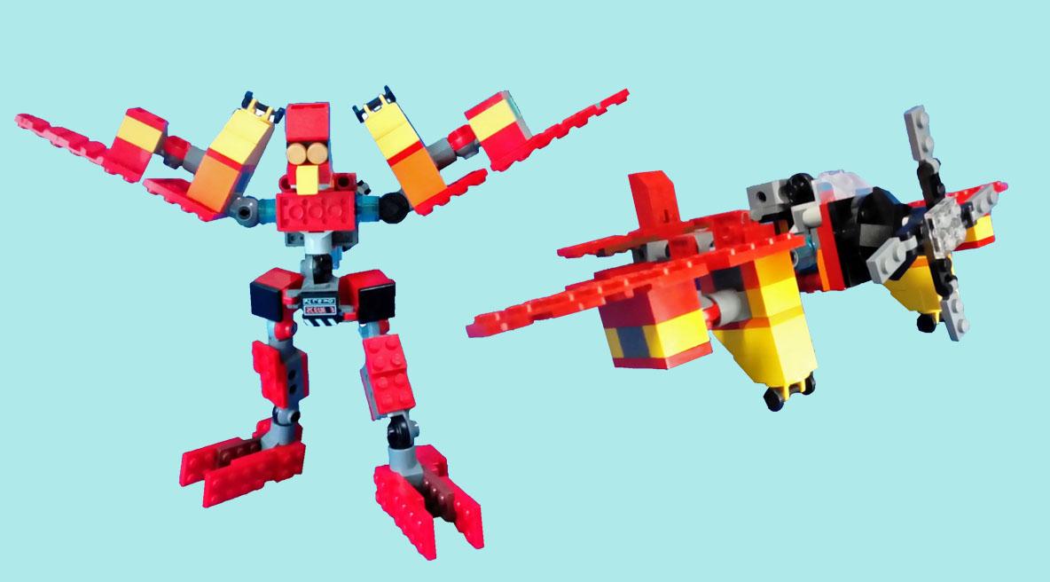 レゴ アイアンペッカー変形!