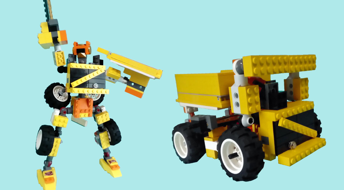 レゴ変形ロボ!ダンプトン
