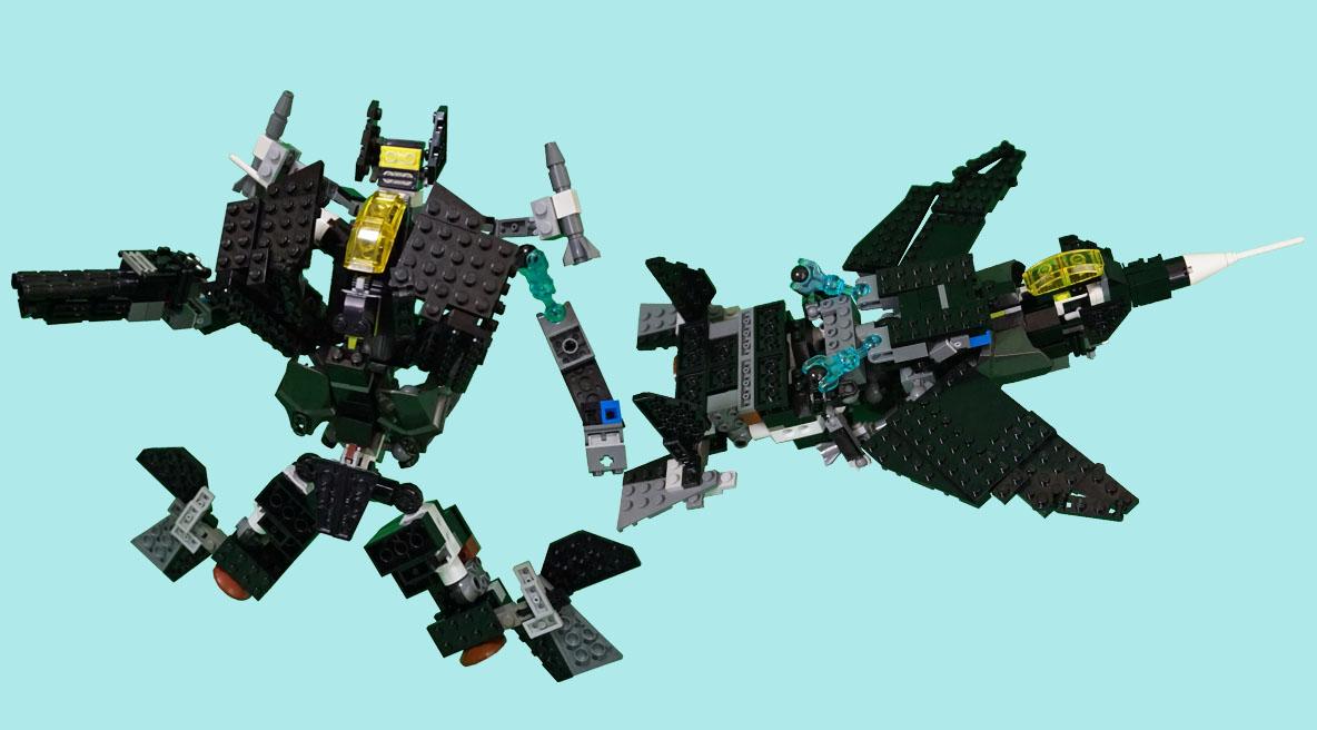 レゴ変形ロボ!ブラックボンバー